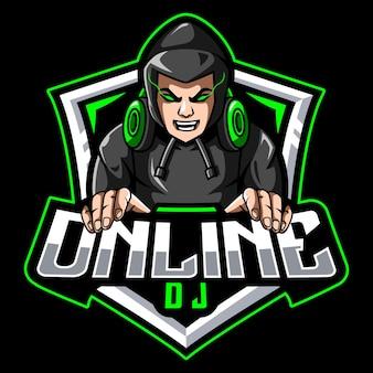 Mensen gaming mascotte logo
