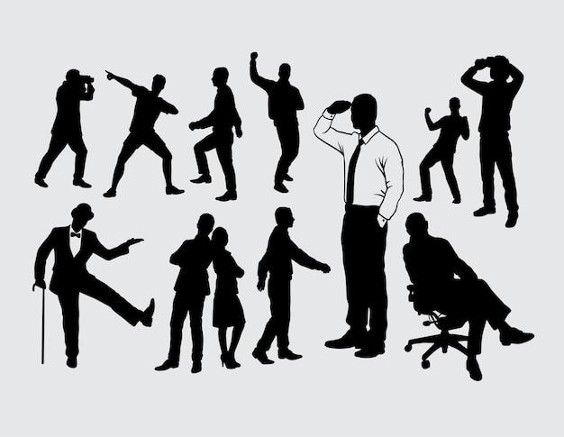 Mensen gebaar silhouet