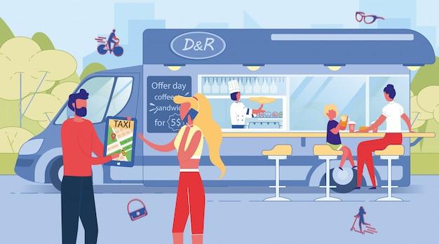 Mensen gebruiken online taxiservice voor bellen, wandelen