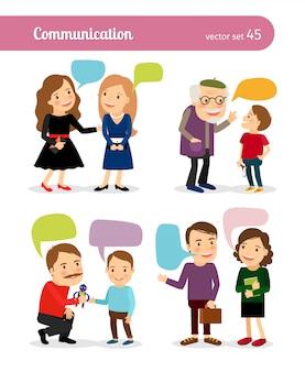 Mensen gesprekken
