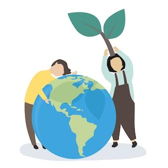 Mensen geven om de wereld en om het milieu