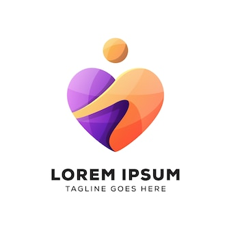 Mensen geven om liefde logo vector