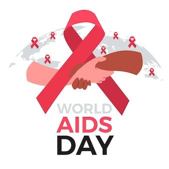 Mensen hand in hand op aids-dag