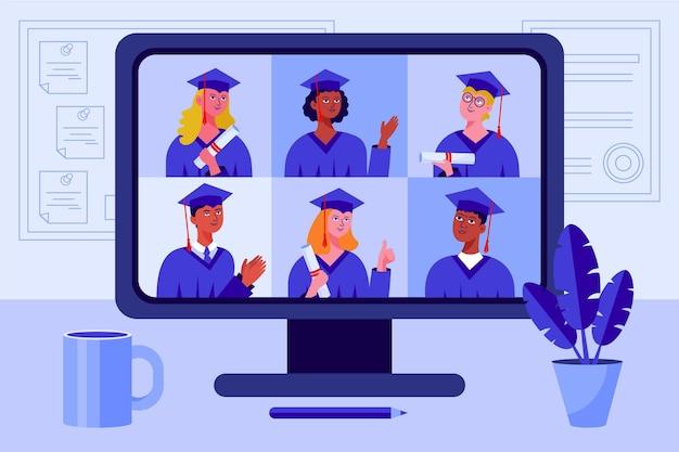 Mensen hebben hun diploma-uitreiking