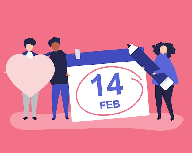 Mensen houden van valentijnsdag concept