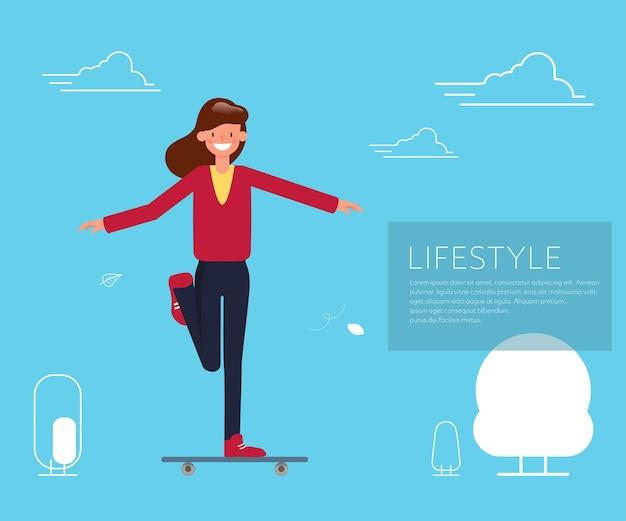 Mensen in activiteit levensstijl karakter.