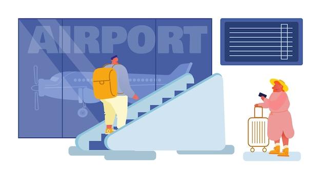 Mensen in airport terminal concept