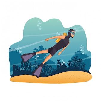 Mensen in de zee duiken