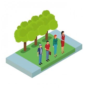Mensen in het park