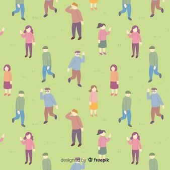 Mensen in het parkpatroon