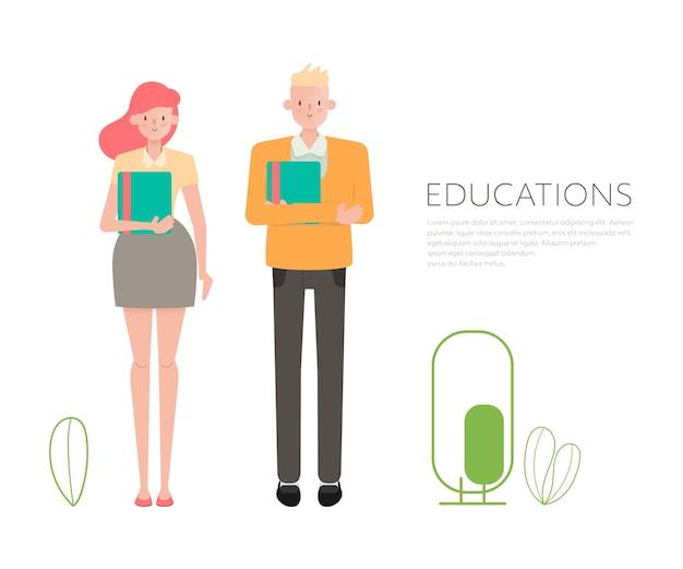 Mensen in onderwijs en lezer.
