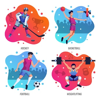 Mensen in sport 2x2 ontwerpconcept