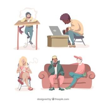 Mensen in verschillende situaties