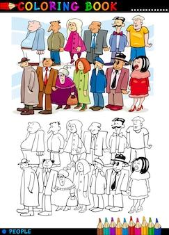 Mensen in wachtrij om in te kleuren