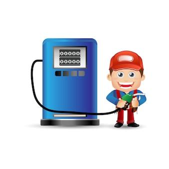 Mensen instellen - beroep - benzine jongen