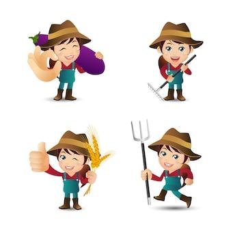 Mensen instellen beroep boer