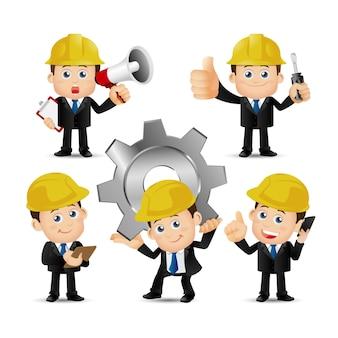 Mensen instellen beroep ingenieur ingesteld