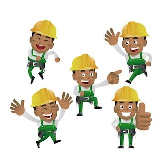 Mensen instellen - beroep - werknemer. bouwer