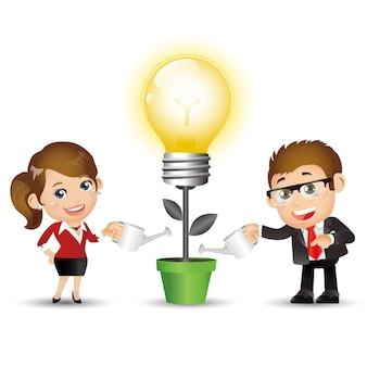 Mensen instellen - business - mensen uit het bedrijfsleven. nieuwe slimme ideeën