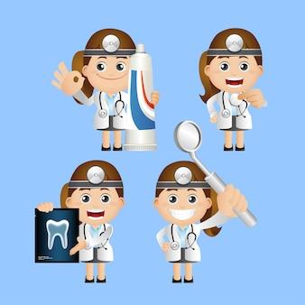 Mensen instellen. tandarts
