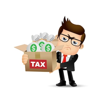 Mensen instellen zakelijke schuld bedrijfsconcept