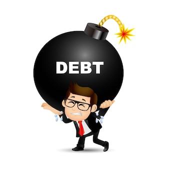 Mensen instellen - zaken - zaken - schuld concept