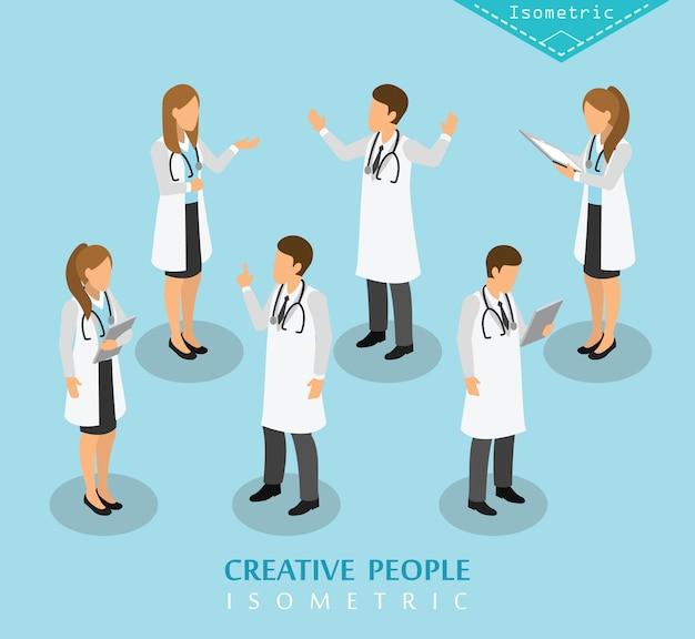 Mensen isometrisch ziekenhuis en medische zorg