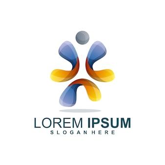 Mensen kleurrijk logo