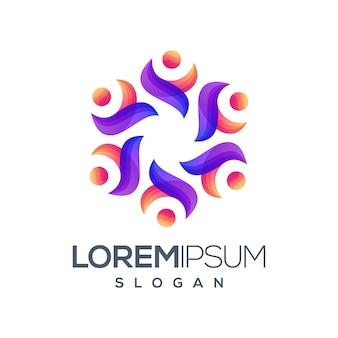 Mensen kleurverloop logo
