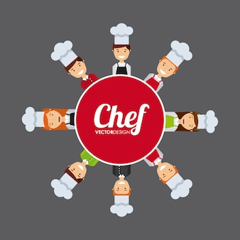 Mensen koken ontwerp, vector illustratie eps10 afbeelding