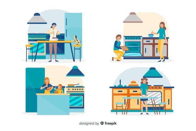 Mensen koken