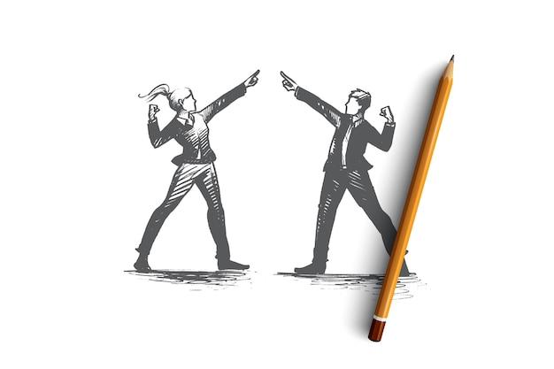 Mensen leider concept illustratie