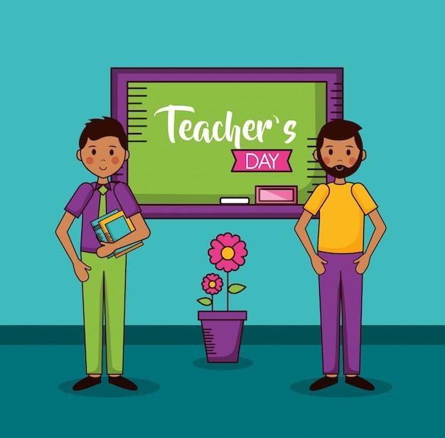 Mensen leraren dag kaart