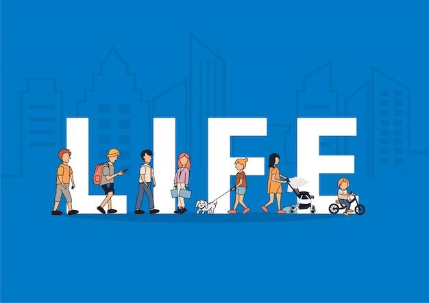 Mensen levensstijl wandelen