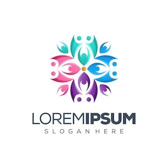Mensen logo ontwerp vector illustratie