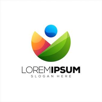 Mensen logo ontwerp vectorillustratie