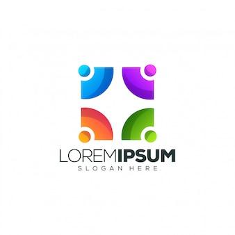 Mensen logo ontwerp
