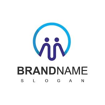 Mensen logo society teamwork en communautair symbool