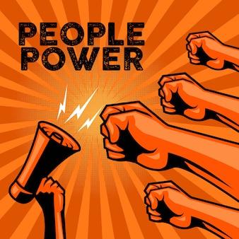 Mensen macht voor protest poster