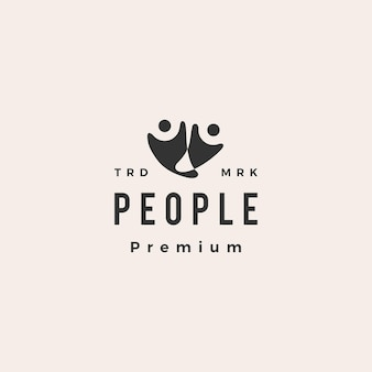 Mensen menselijke hipster vintage logo pictogram illustratie
