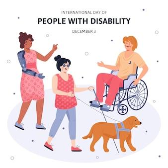 Mensen met een handicap en hulphond