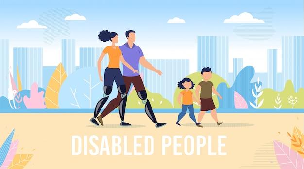 Mensen met een handicap gelukkig leven plat