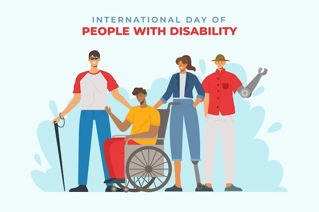 Mensen met een handicap illustratie