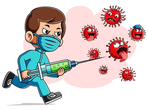 Mensen met een vaccin tegen coronavirus