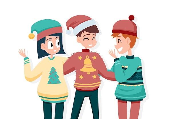 Mensen met lelijke truien