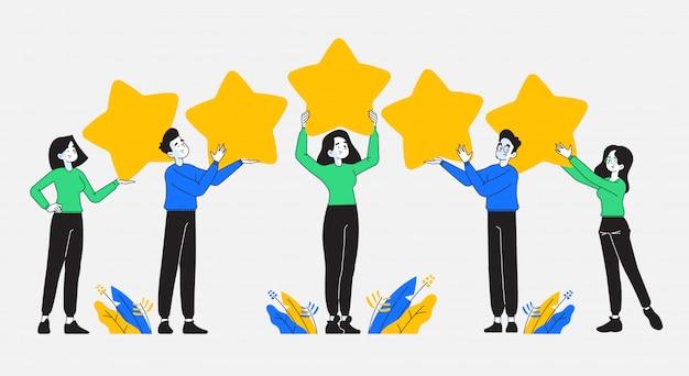 Mensen met recensie sterren