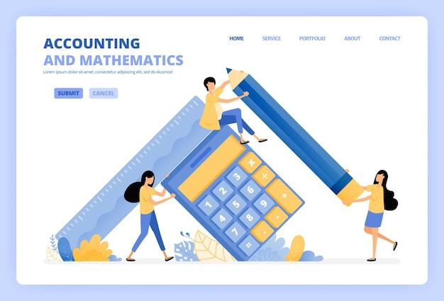 Mensen met rekenmachines en potloden voor de boekhouding