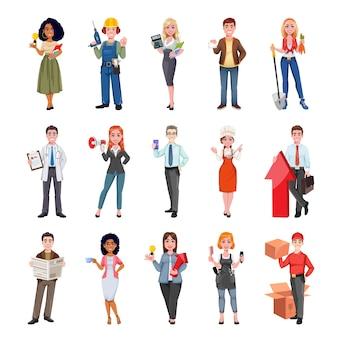 Mensen met verschillende beroepen
