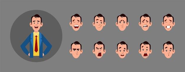 Mensen met verschillende gezichtsuitdrukkingen