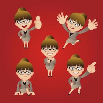 Mensen met verschillende poses vectorbeelden